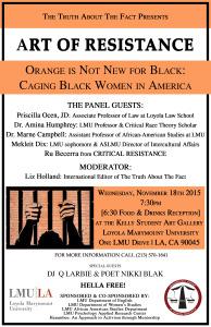 Final Art of Resistance-Caging Black Women in America Flyer